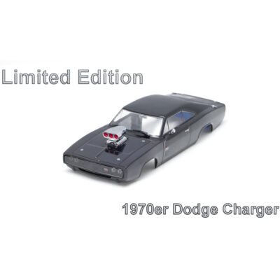 Dodge Charger Karosserie Limited Schwarz inkl. Adapter | Front