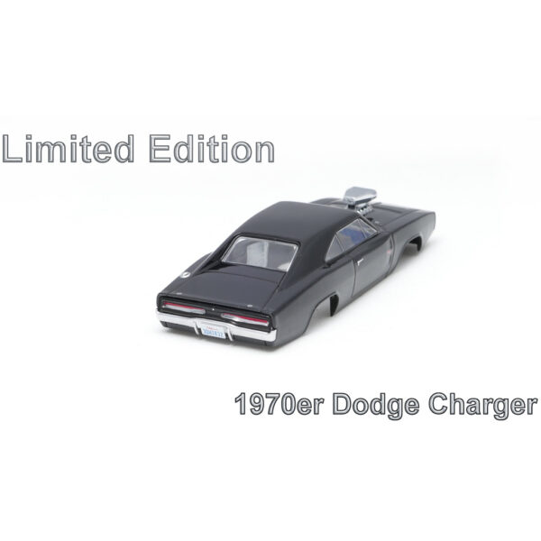 Dodge Charger Karosserie Limited Schwarz inkl. Adapter | Heck