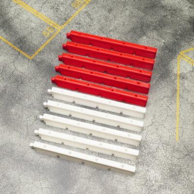 Streckenbegrenzung 10er Set lang Rot/Weiss | F4 Drift Shop Schweiz