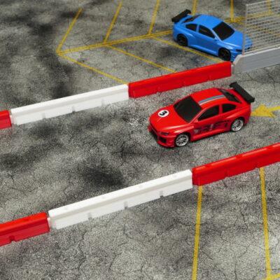 Streckenbegrenzung lang rot/weiss | 10er Set