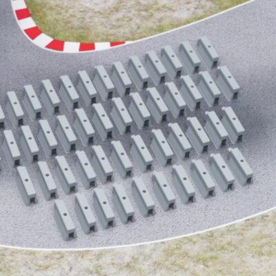 Streckenbegrenzung betongrau | 50er Set
