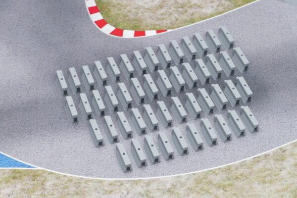 Streckenbegrenzung betongrau 50er Set alle Teile