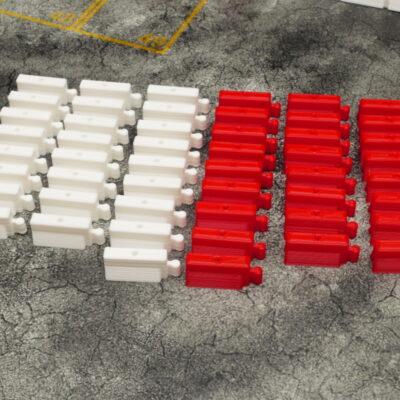 Streckenbegrenzung rot/weiss | 50er Set | DR!FT Strecken Zubehör