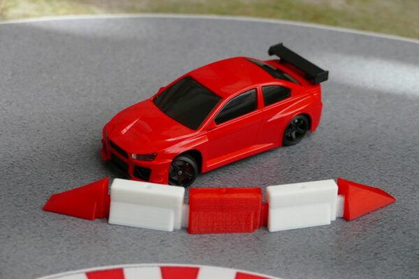 Streckenbegrenzung Endstücke rot im Einsatz mit DR!FT Racer red