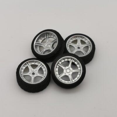 DS-Design Felge D06 Silber Chrom | Profilreifen | Drift