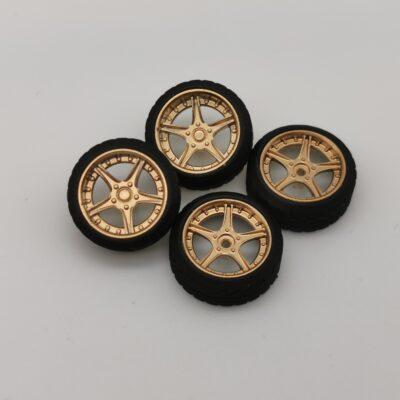 DS-Design Felge D06 Gold Chrom | Profilreifen | Drift