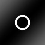 Schwarz glänzend / Ring: Weiss