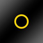 Schwarz glänzend / Ring: Gelb