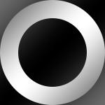 Ring: Chrom / Kern: Schwarz
