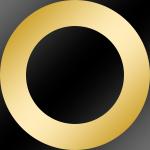 Ring: Gold Chrom / Kern: Schwarz