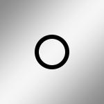 Silber / Ring: Schwarz