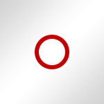 Weiss glänzend / Ring: Rot
