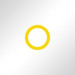 Weiss glänzend / Ring: Gelb