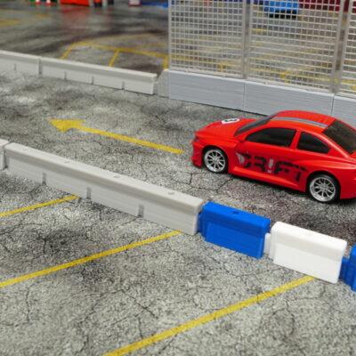 Streckenbegrenzung lang betongrau | 10er Set