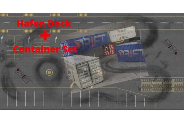 Drift Rennstrecke Hafen-Dock mit DR!FT Container-Set
