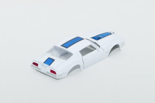 DR!FT Karosserie Trans AM Weiss inkl. Adapter | Heck | F4 Drift Shop