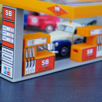 Tankstelle «SB-Tanke» Orange 1:43