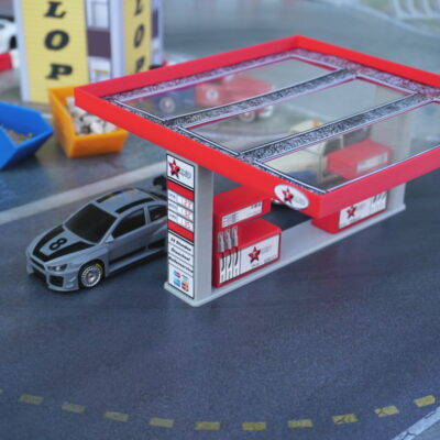 "Tankstelle ""TAXO"" Rot 1:43 | Drift Strecken Deko"