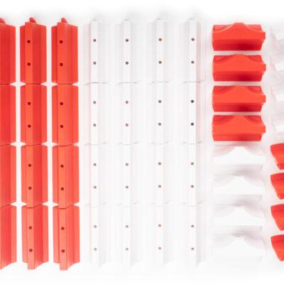 Streckenbegrenzung Set rot/weiss | 64 Teile