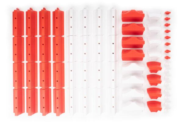 Drift Streckenbegrenzung Set rot/weiss | 64 Teile Lieferumfang | Sturmkind DR!FT