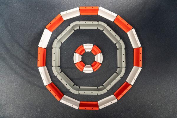 Drift Streckenbegrenzung Set rot/weiss | 64 Teile Kreisel | Sturmkind DR!FT