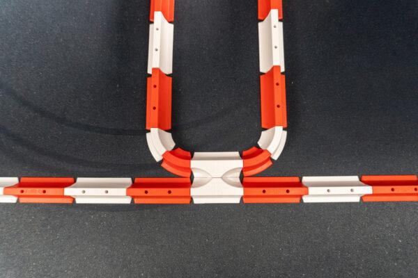 Drift Streckenbegrenzung Set rot/weiss | 64 Teile Möglichkeiten | Sturmkind DR!FT