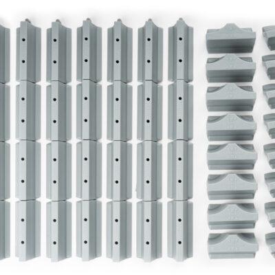 Streckenbegrenzung Set Beton | 64 Teile