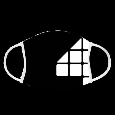 F4 Stoffmaske Schwarz/Weiss 1.0 | FAKTOR VIER Merchandise | Gesichtsmaske