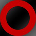 Ring: Rot / Kern: Schwarz