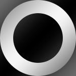 Ring: Silber / Kern: Schwarz
