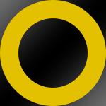 Ring: Gelb / Kern: Schwarz