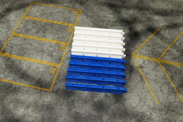 Streckenbegrenzung 10er Set lang Blau/Weiss | F4 Drift Shop Schweiz