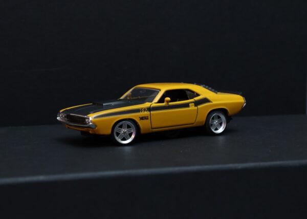 DR!FT Dodge Challenger T/A Karosserie Gelb inkl. Adapter | Front auf Racer | Drift Karosserie