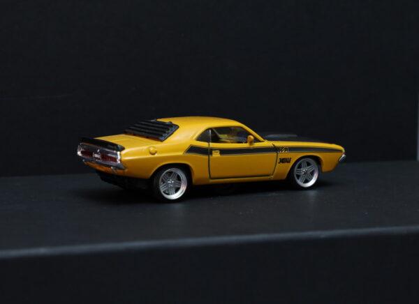 DR!FT Dodge Challenger T/A Karosserie Gelb inkl. Adapter | Heck auf Racer | Drift Karosserie