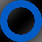 Ring: Blau / Kern: Schwarz