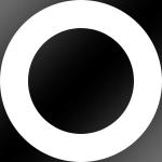 Ring: Weiss / Kern: Schwarz