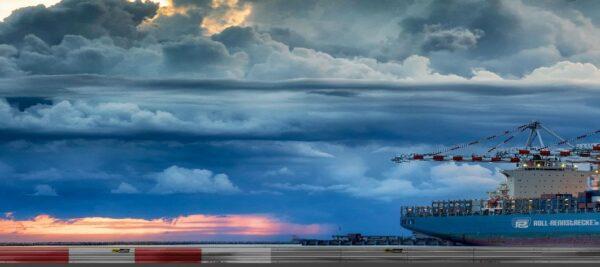 Roll Rennstrecke Panorama Hafen | Links | DRIFT Deko