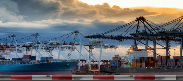 Roll Rennstrecke Panorama Hafen | Mitte | DRIFT Deko